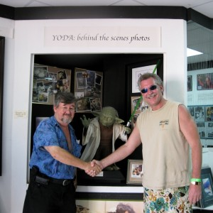 our  photo. St Maarten Einstein with The Yoda Guy.