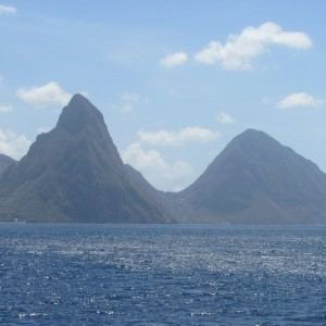 Maw's  photo.  St. Lucia & Pitons
