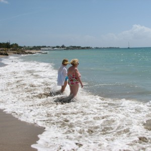 Our photo.  Nevis. red & Cyndi