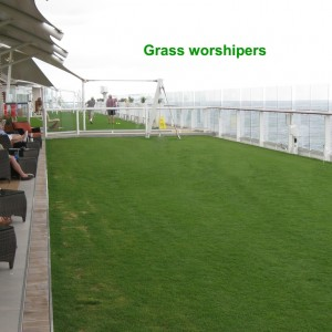 our photo. 3rd sea day. grass worshipers