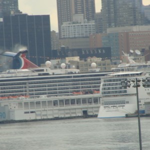 Carnival Miracle & Norwegian Jewel from across the river