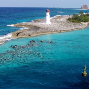 The harbor entrance to Nassau Bahamas.