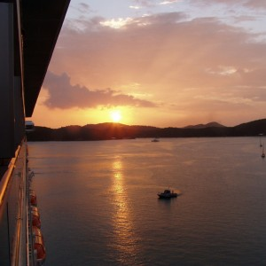 Sunset in Saint Thomas Harbor