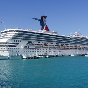 The Carnival Victory docked in Ocho Rios, Jamaica