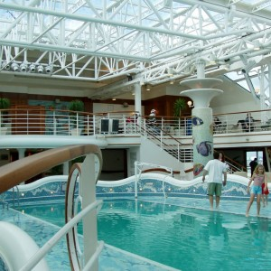 One of the pools aboard the Star Princess.