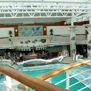 The other end of the pool aboard the Star Princess