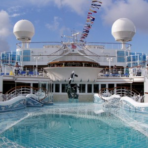 One of the ourside pools aboard the Star Princess.