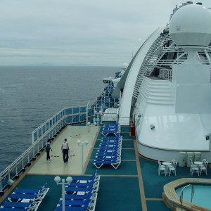 Another view from up on deck aboard the Star Princess