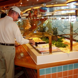 The Star Princess has a lovely buffet.