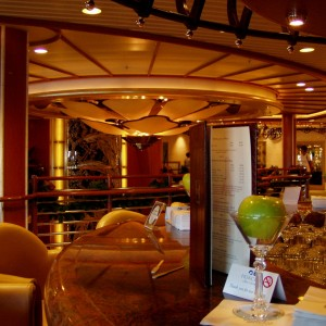 One of the lounges aboard the Star Princess.
