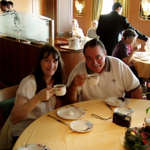 "Us having ""High Tea"" aboard the Star Princess"