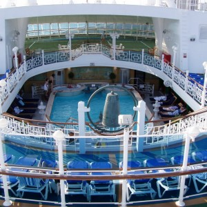 Another view of one of the pools aboard the Star Princess