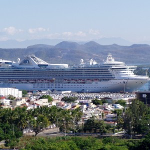 The Star Princess docked in Mazatlan, Mexico