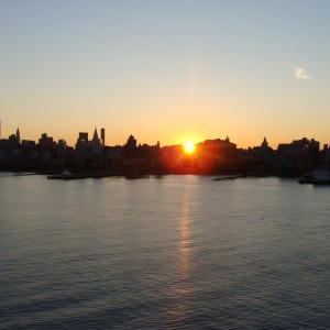 Return to NYC - Sunrise over Manhattan