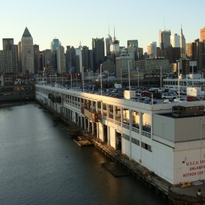 Return to NYC - Pulling into Pier 90