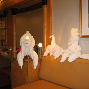 Towel Animal Collection On The Carnival Pride