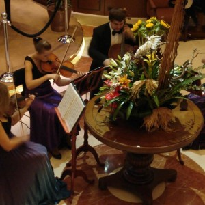 string quartet in the Grand Lobby
