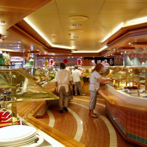 The buffet aboard the Star Princess.